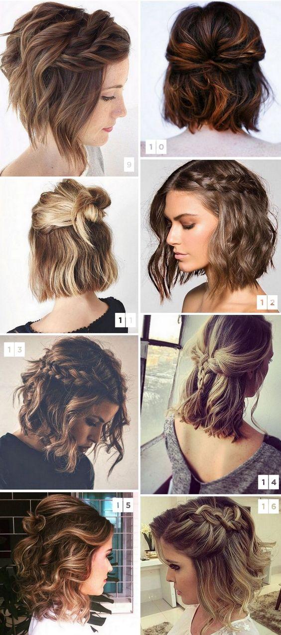 Причёски на короткие волосы на выпускной 2018 (50)