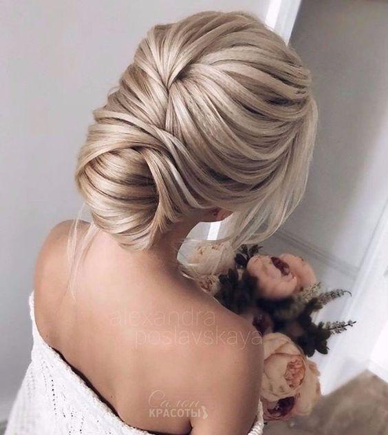 Свадебные прически на средние волосы 2018 (25)