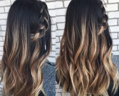 Мелирование на темные волосы 2018 (20)