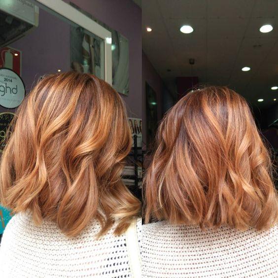 Медово-карамельный цвет волос (15)