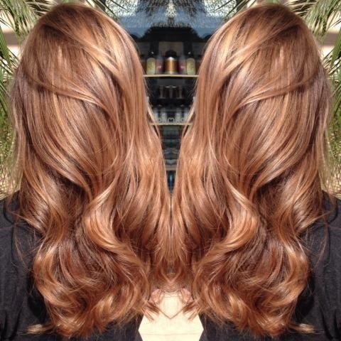 Карамельный блонд цвет волос (54)