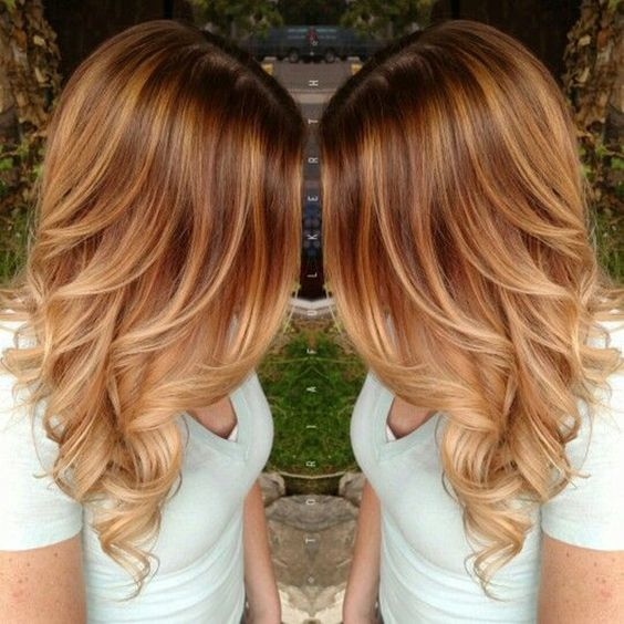 Медово-карамельный цвет волос (41)