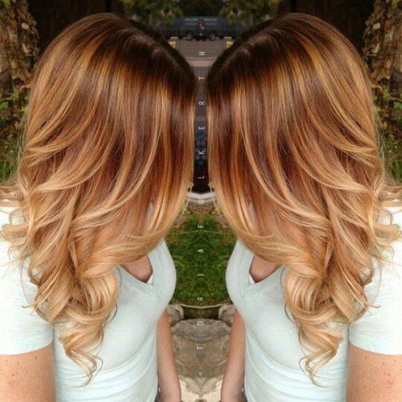 Карамельный блонд цвет волос (28)