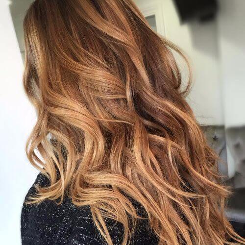 Карамельный блонд цвет волос (25)