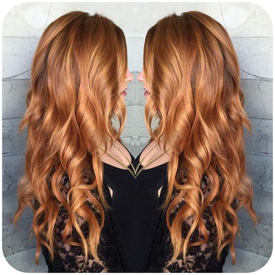 Медово-карамельный цвет волос (22)
