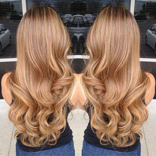 Карамельный блонд цвет волос (32)