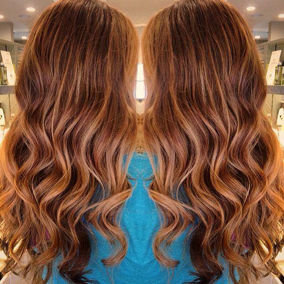 Медово-карамельный цвет волос (42)