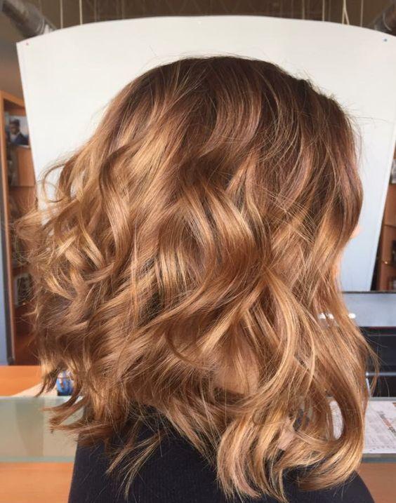 Карамельный блонд цвет волос (43)