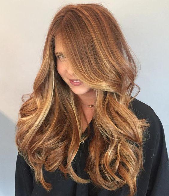 Карамельный блонд цвет волос (41)