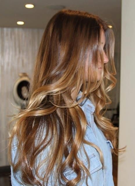 Медово-карамельный цвет волос (35)