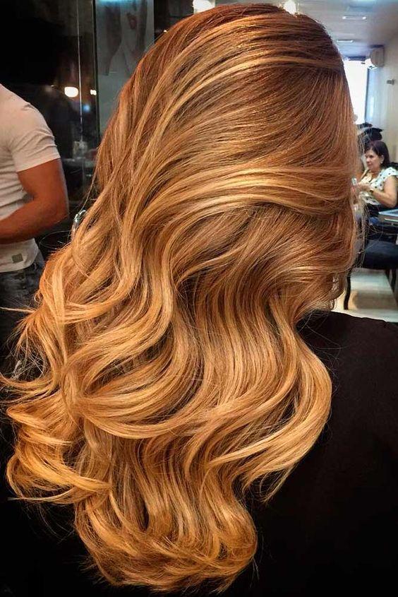 Карамельный блонд цвет волос (39)