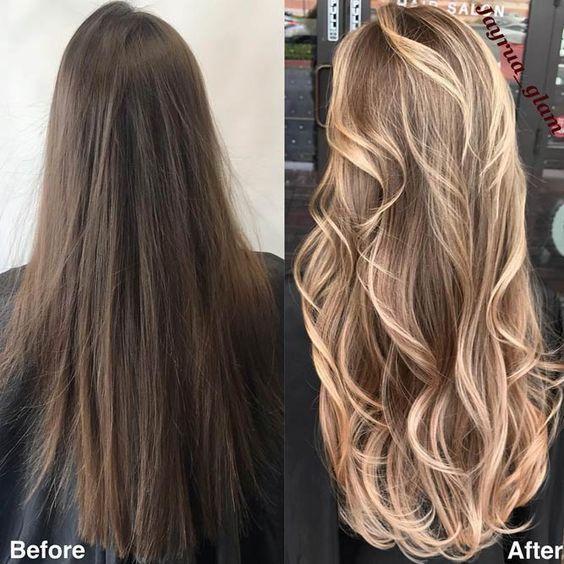 Карамельный блонд цвет волос (38)