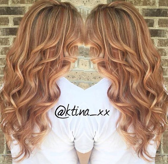 Карамельный блонд цвет волос (37)