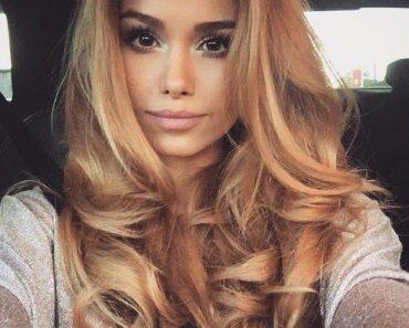 Карамельный блонд цвет волос (19)