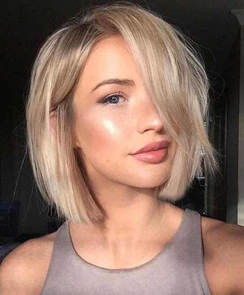 Стрижки на средние волосы осень 2018-2019 (60)