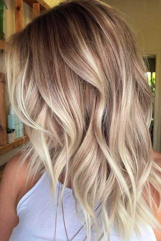 Карамельный блонд цвет волос (4)