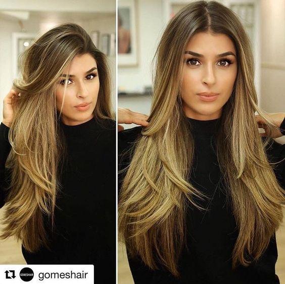 Окрашивание длинных волос 2018 (78)