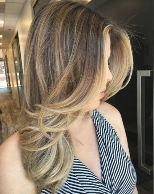Цвет волос мелирование фото (25)