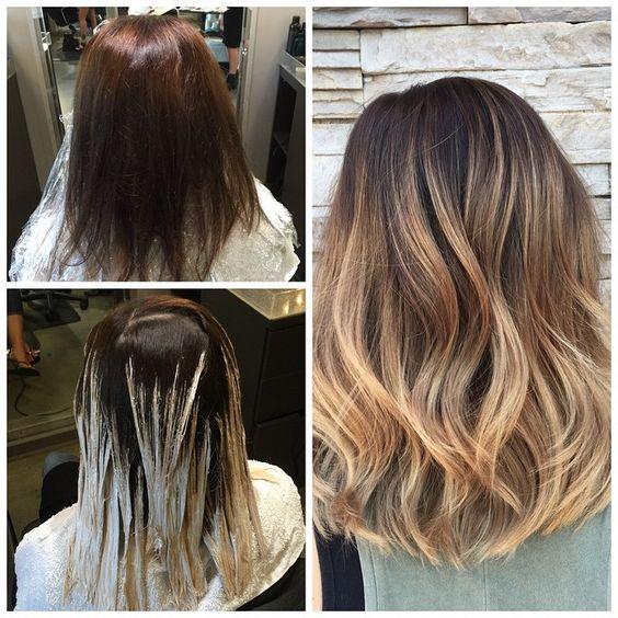Цвет волос мелирование фото (63)