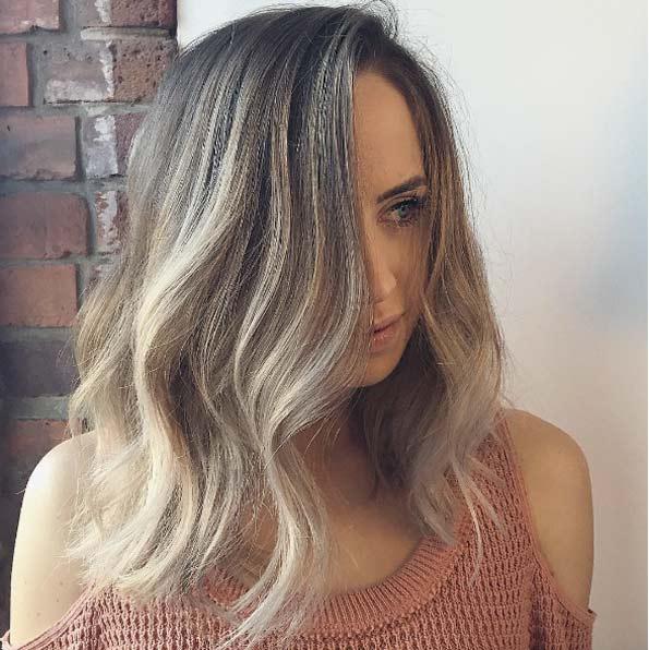 Цвет волос мелирование фото (21)