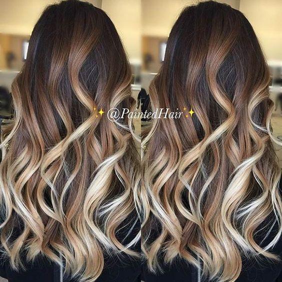 Цвет волос мелирование фото (39)