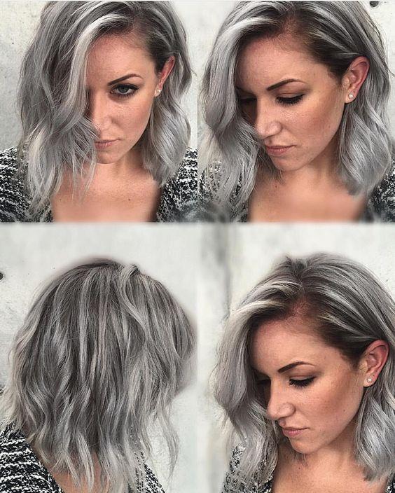 Седой цвет волос (44)