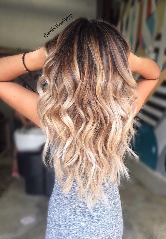 Окрашивание длинных волос 2018 (66)