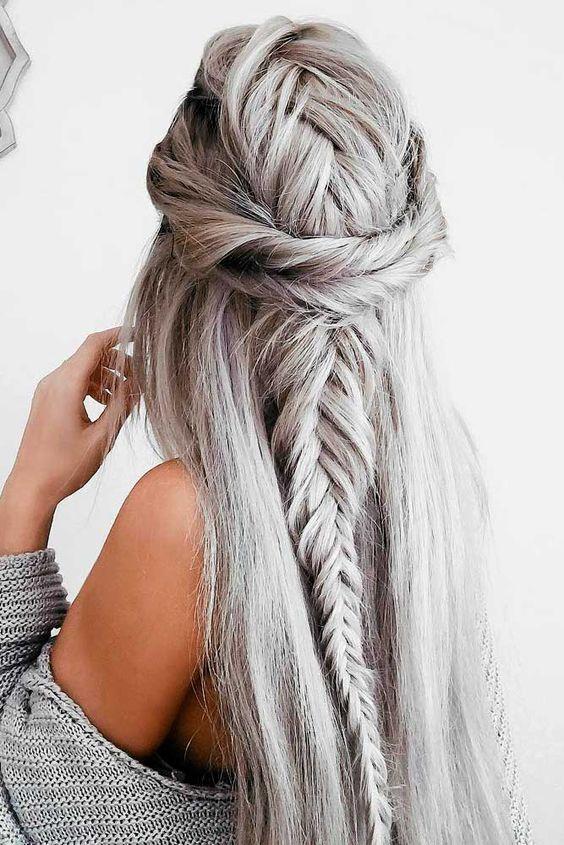 Седой цвет волос (53)