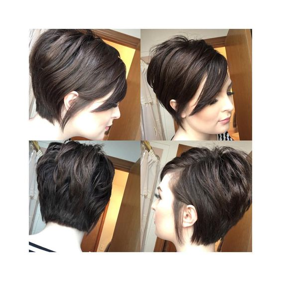 Короткие стрижки сзади и спереди (23)