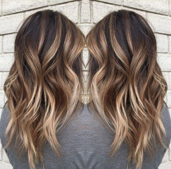 Цвет волос мелирование фото (34)