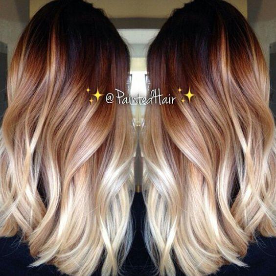 Цвет волос мелирование фото (31)
