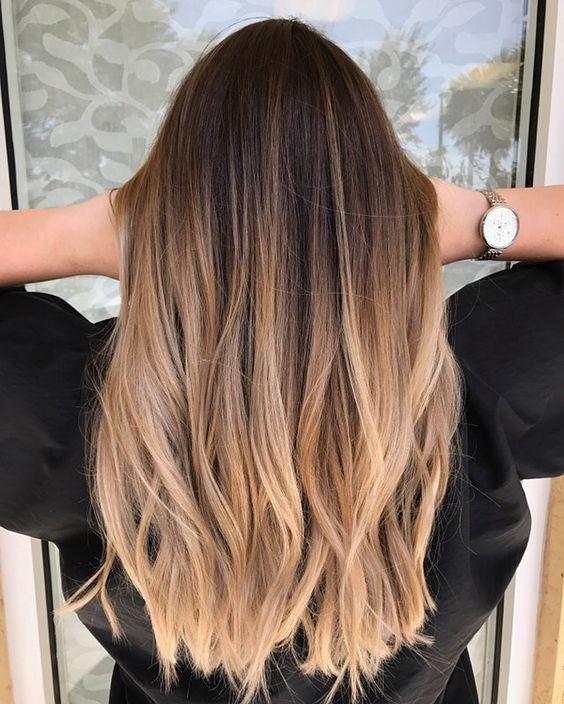 Окрашивание длинных волос 2018 (6)
