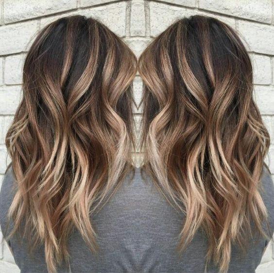 Цвет волос мелирование фото (47)
