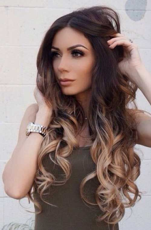 Цвет волос мелирование фото (45)