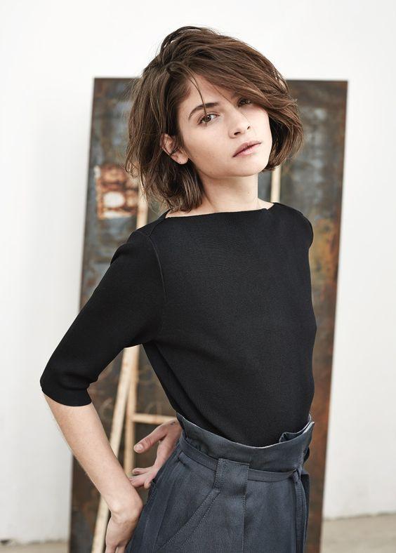 Женские стрижки с челкой 2018 (23)