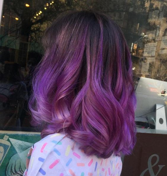 Фиолетовое омбре (30)