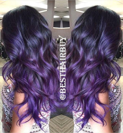Фиолетовое омбре (2)