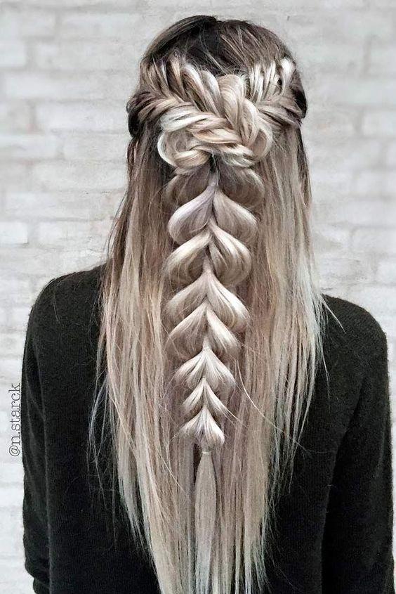 Причёски на длинные волосы 2019 (48)