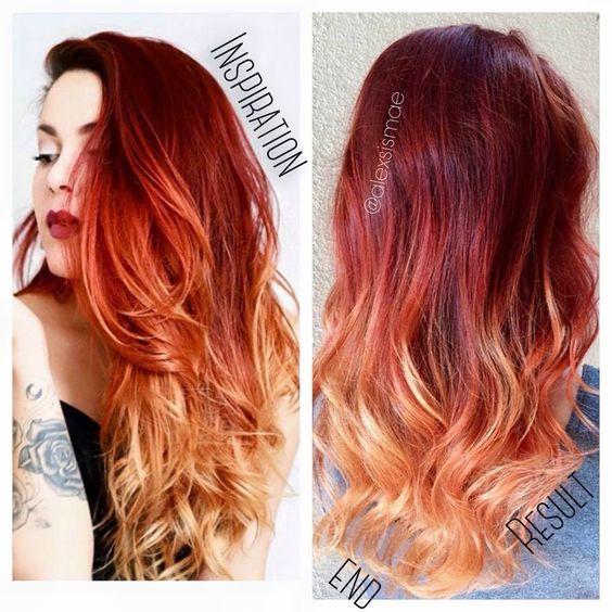 Рыжий цвет волос 2019 (12)