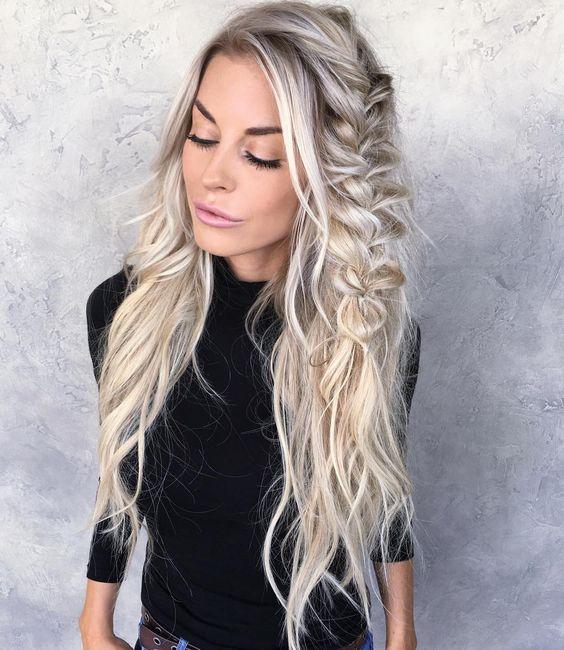 Новогодние причёски 2019 фото (36)