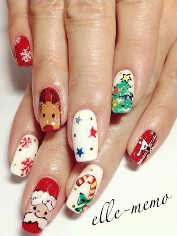 Олень на ногтях (12)
