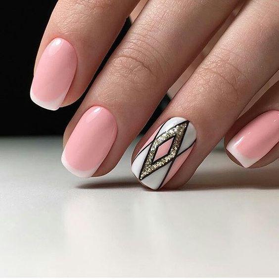 Красивый дизайн ногтей 2019 френч (15)