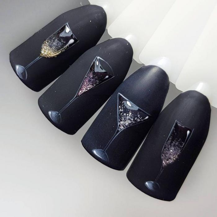 Красивый дизайн ногтей 2019 на короткие ногти (11)