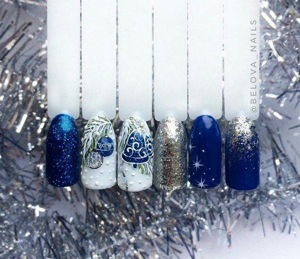 Ногти со снежинками (12)