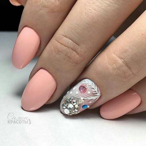 Красивый дизайн ногтей 2019 на короткие ногти (9)