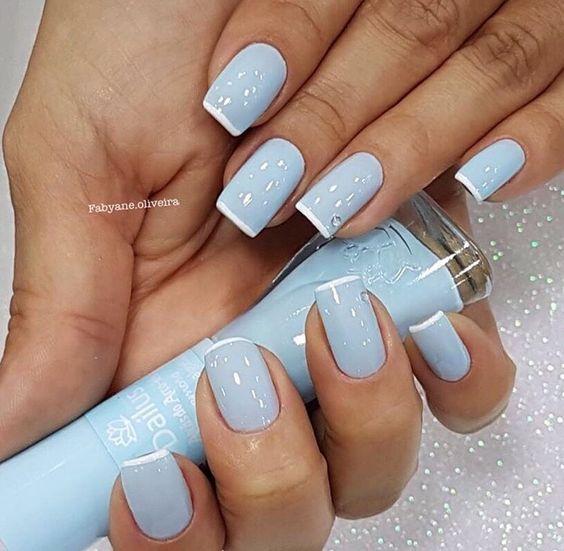 Красивый дизайн ногтей 2019 на короткие ногти (34)