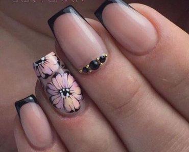 Красивый дизайн ногтей 2019 френч (11)