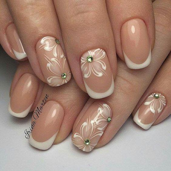Ногти со снежинками (16)