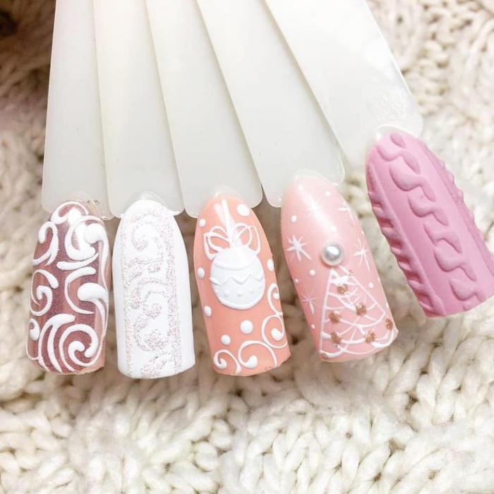 Ногти со снежинками (13)
