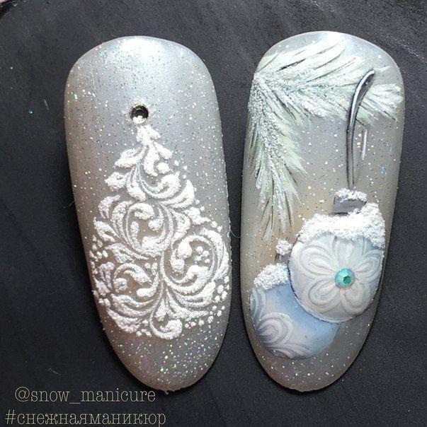 Ёлка на ногтях (29)